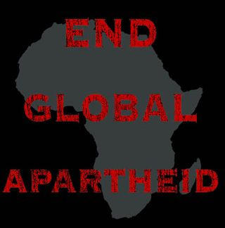 End Global Apartheid t shirt front